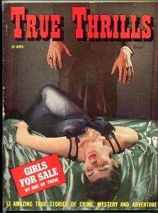 True Thrills Magazine #1 1941- Girls for Sale- Lingerie menace cover F/VF
