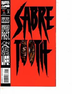 Lot Of 2 Marvel Comic Sabretooth #1 and Morbius #12  Iron Man Thor ON13