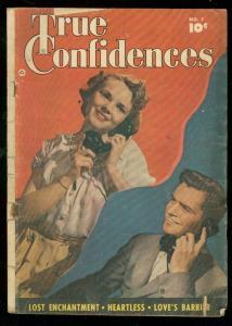TRUE CONFIDENCES #1 1949-FAWCETT PHOTO COVER-GOOD GIRL G