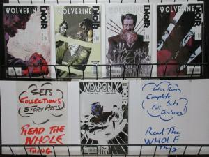 WOLVERINE NOIR (2009) 1-4, Weapon X Noir 1B  COMPLETE+