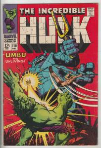 Incredible Hulk #110 (Dec-68) FN/VF Mid-High-Grade Hulk