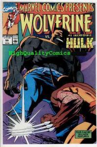 MARVEL COMICS PRESENTS #55, NM, Wolverine vs Hulk, Wolf, more MCP in store