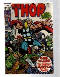 Mighty Thor # 177 VF Marvel Comic Book Loki Odin Asgard Sif Avengers Hulk RB8