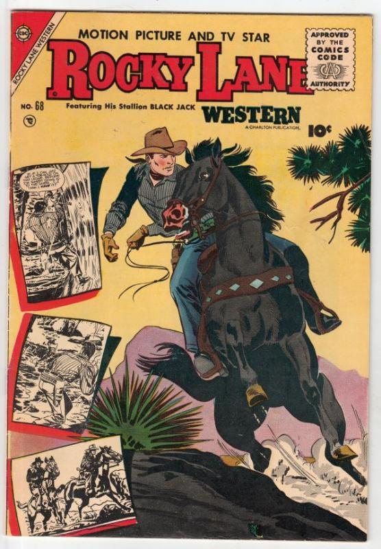 Rocky Lane Western #68 (Jul-55) FN/VF Mid-High-Grade Rocky Lane