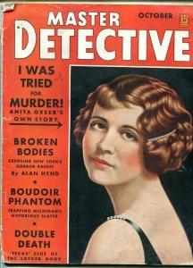 MASTER DETECTIVE-OCT 1938-G/VG-HARD BOILED-SPICY-MURDER-RAPE-POISON G/VG