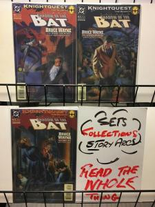 SHADOW OF THE BAT (1992) 21-23 Bruce Wayne Complete