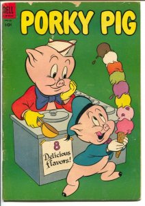 Porky Pig #38 1954-Dell-ice cream cover-early issue-G