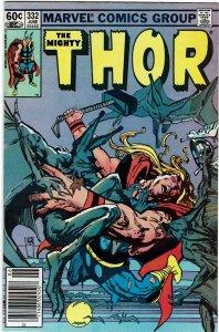 Thor #332 (1966 v1) Sienkiewicz Captain Marvel Dracula Newsstand VF