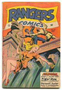 Rangers Comics #37 1947- MATT BAKER- Fiction House VG