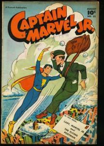 CAPTAIN MARVEL JR. #52-FAWCETT-GREAT COVER VG