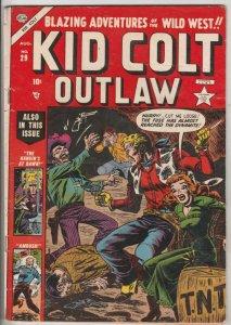 Kid Colt Outlaw #29 (Aug-53) VG/FN Mid-Grade Kid Colt