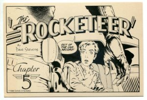 DAVE STEVENS Postcard, ROCKETTER, 1982, more in store, 'Chapter 5'
