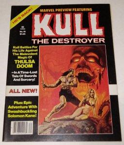 Marvel Preview #19 Kull The Destroyer Bronze Age Horror Magazine Marvel Comics