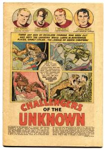 CHALLENGERS OF THE UNKNOWN #1 Jack Kirby Wally Wood DC First issue silver age