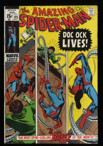 Amazing Spider-Man #89 FN+ 6.5 White Pages Doc Ock!