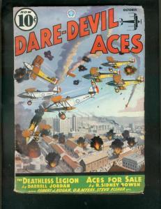DARE-DEVIL ACES PULP-OCT 1936-DEATHLESS LEGION-SMOKE WA VG