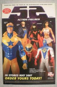 52 ACTION FIGURES Promo poster, 11x17, 2007, Unused, more Promos in store