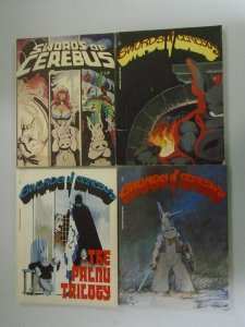 Swords of Cerebus TPB lot #1,2,4,5 avg 6.0 FN (1981-83 Aardvark-Vanaeim)