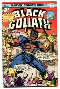 BLACK GOLIATH #1 comic book-1976-TUSKA ART-FIRST ISSUE-vg