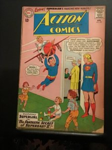 Action Comics #299 (1962) Supergirl sees Kents adopting super baby cover! VG/FN