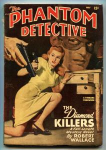 PHANTOM DETECTIVE-MAY 1948--HARDBOILED PULP HERO-ROBERT WALLACE vf-