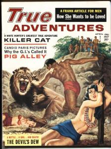 True Action 4/1962-Bound babe attacked by Lion-moonshine!