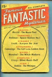 FAMOUS FANTASTIC MYSTERIES-SEPT-1939-PULP-SOUTHERN STATES PEDIGREE-vg