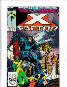 THE  X- FACTOR #25  VF/FN/ THE FALL OF THE MUTANTS  MARVEL COMICS