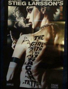 GIRL WITH THE DRAGON TATTOO Promo Poster, 22 x 34, 2012, VERTIGO Unused more in