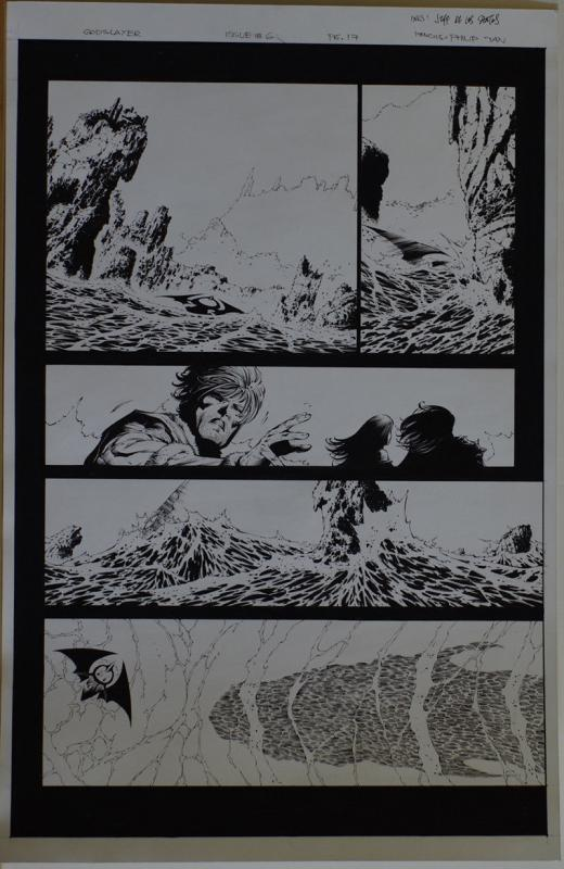 PHILIP TAN / JEFF Jeff De Los SANTOS original art, GODSLAYER #6 pg 17, 11x17