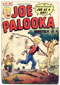 JOE PALOOKA #37 1949-HARVEY COMICS-JOE AS A BOY-BOXING VG