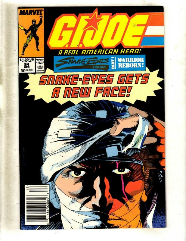 GI Joe # 94 VF/NM Marvel Comic Book Snake Eyes Storm Shadow American Hero WS9