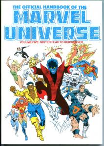 OFFICIAL HANDBOOK of the MARVEL UNIVERSE #5, NM, 1987, 1st, TPB,more GN in store