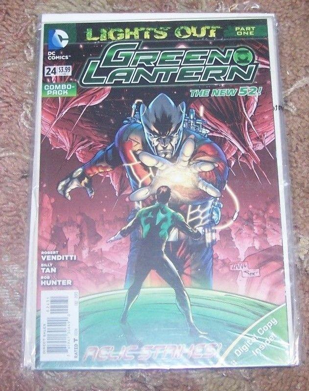 Green Lantern #24  2013, DC NEW 52 DIGITAL COMBO PACK REBIRTH HOT HAL JORDAN