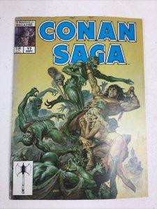 Conan Saga #17 SEPT Earl Norem Marvel Comics Magazine 1988 VF ZAMBOULA