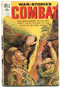 COMBAT #34 WW II NEW GUINEA PHILLIPINES DELL 1972 WAR VG