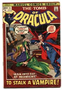 Tomb of Dracula #3 comic book 1972-Marvel-Gene Colan horror art