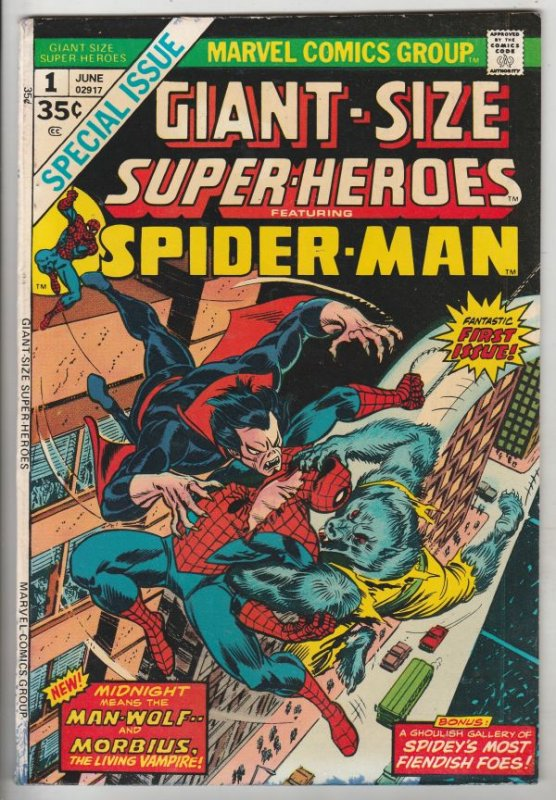 Giant-Size Super-Heroes Featuring Spider-Man #1 (Jun-74) FN/VF Mid-High-Grade...