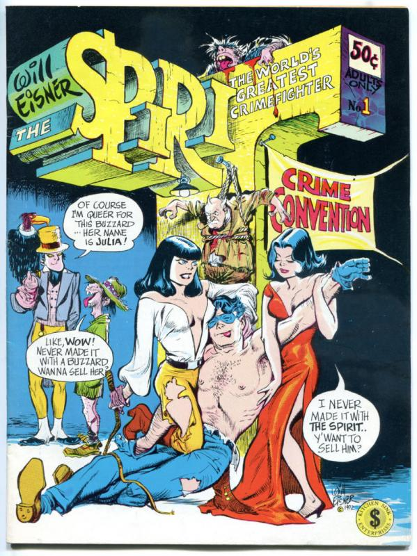 The SPIRIT #1 2, VF VF/NM, Will Eisner, Kitchen Sink, 1973, more Eisner in store