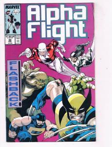 Alpha Flight #52 FN Marvel Comics Comic Book Wolverine X-Men Nov 1987 DE41 AD18