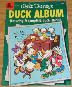 Four Color #611 FN- walt disney's duck album - golden age dell comics 1954