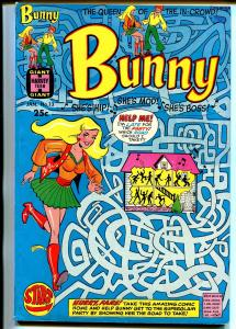 Bunny #13 1970-Harvey-Giant issue-maze cover-fashions-Afro-Americans-VG