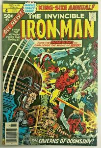 INVINCIBLE IRON MAN ANNUAL#4 FN/VF 1977 MARVEL BRONZE AGE COMICS