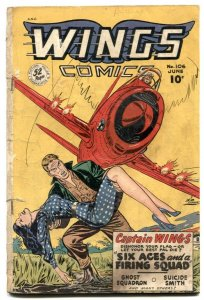 Wings #106 1949- Fiction House- GGA cover- Ghost Squadron G