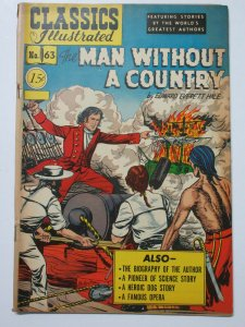 Classics Illustrated- 63 Man without a Country by Edward Everett Hale HRN 78