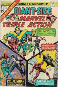 Giant-Size Marvel Triple Action #1, VG+ (Stock photo)