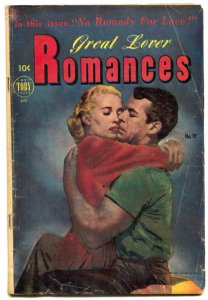 Great Lover Romances #18 1953- Golden Age- Canadian VG-
