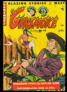 GUNSMOKE COMICS #12 1951-WESTERN-MASKED MARVEL-INDIAN FN