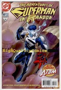 ADVENTURES of SUPERMAN #547, NM+, Clark Kent, 1997, Atom, more in store