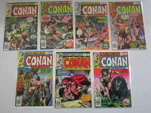 Conan the Barbarian lot 25 different from #90-120 avg 7.0 FN VF (1978-80 Marvel)